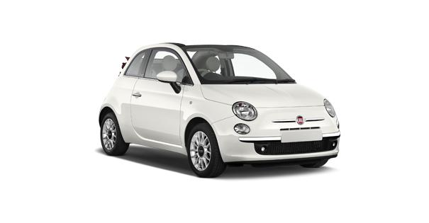 Fiat 500C coche Falcorent Rent a car en Mallorca